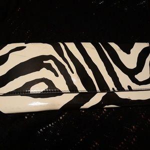 Zebra clutch purse